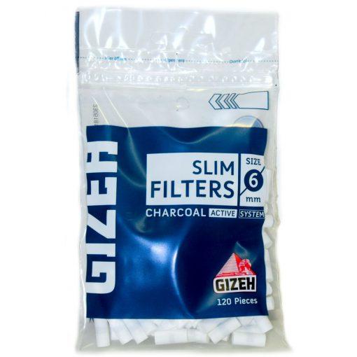 filtros gizeh slim carbon tabaqueria