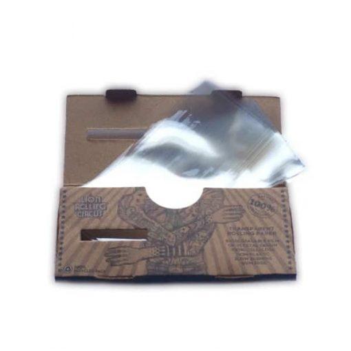 papel lion circus transparente celulosa fumador articulos