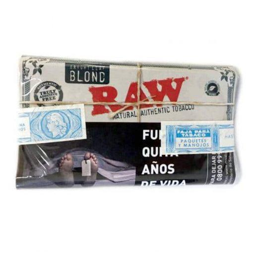 tabaco raw blond x 30gr precios online
