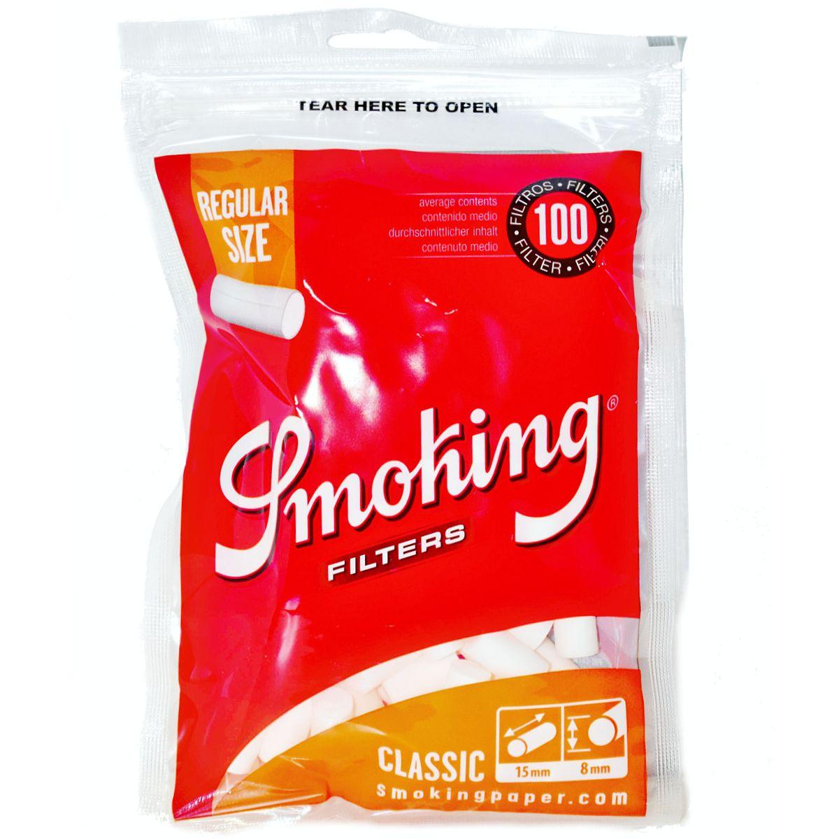 filtros smoking regulares precios