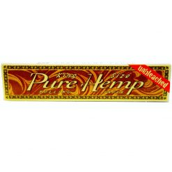 papel pure hemp unbleached king size
