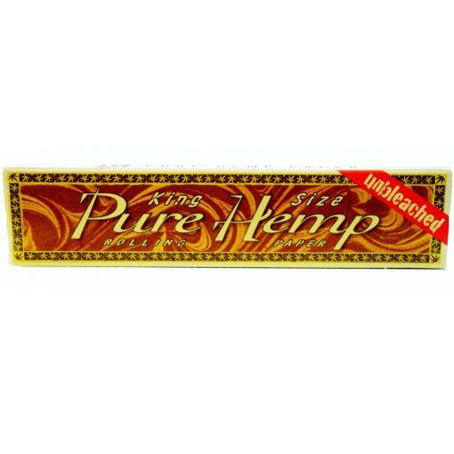 papel pure hemp unbleached king size