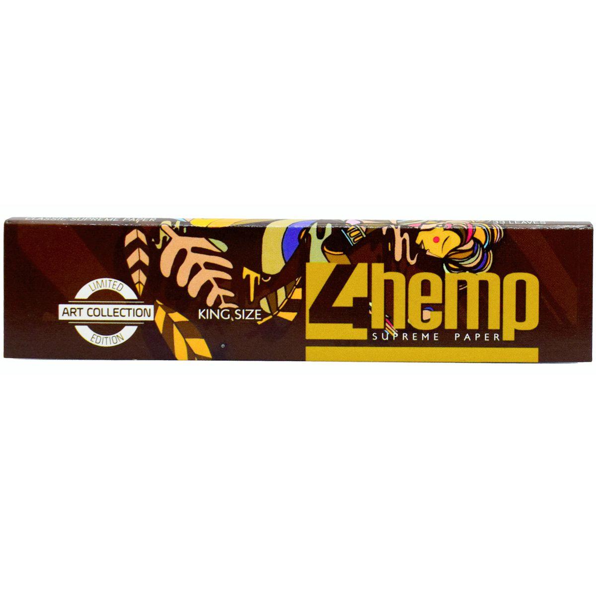 papel 4hemp brown king size tabaqueria precio