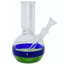 pipa bong vidrio pyrex linea azul